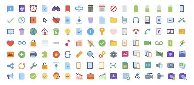 Flat Color Icons