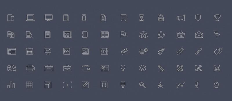 Elegant Line-Style Icons